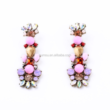 Hot New Products for 2015 Pink Bead Fashion Jewlery Fashion Gold Earring