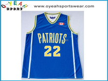 sublimation basketball jersey custom design