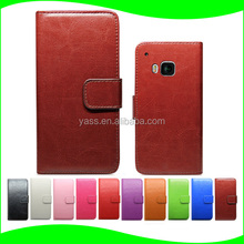 Hot Sale PU Mobile Phone Leather Flip Case For HTC One M9,For HTC One M9 Case