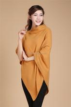 2015 haute qualité câble tricoté poncho pour les femmes