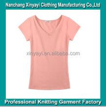 Women V-Neck Cotton Bulk Blank Plain T-shirts