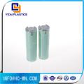 Sin tapa cilindro Pink cosmético envases de plástico