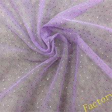 100%Polyester 2015 Special Fantasy Star Glitter Net Mesh Fabric for Dress/Garment