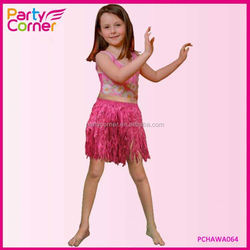 Pink Hula Mini Skirt Child Size For Hawaii Party