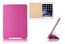 Factory Wholesale Hot PU Leather Case For iPad Air 2 Cover Stand Function Cover For iPad Air 2 Smart Case Tablet Aypad