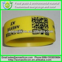 Silicone QR Code Bracelet for Corporate Promotion Items
