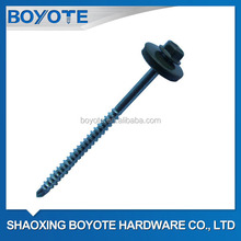 Green Ral Painted Hex Flanged Head Self Drilling Screw with EPDM Washer