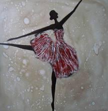 hot sale lastest home deco dance girl oil painting