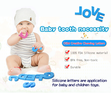 Promotion New Product Silicone Chew Toy Baby Teether