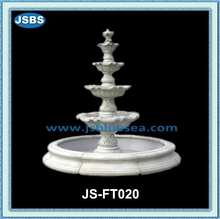 white marble 4 tier water fountain