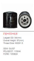 manufacture of wenzhou factory auto spare parts 1109H4 oil filter for PEUGEOT