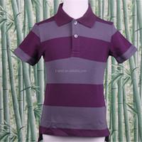 Whalesale 2014 New fashion style Children's striped Polo shirt 100% cotton t shirt