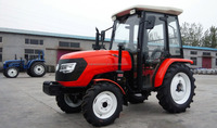 hot selling 35hp 4wd four wheel yellow middle farming tractor CE approved with mower tiller
