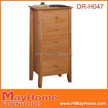 pine wood 5 drawers tall cabinet with drawers