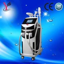 Elight+IPL+RF+Laser 4 in 1 multifunction ipl rf nd yag laser hair removal machine
