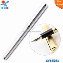 luxury golden silver logo metal fountain pen