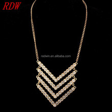 RDW 2015 Top Design Austrian Crystal Alloy Necklace Designs Women,Fashion Simple Glitter Crystal Alloy Necklace
