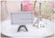 "Wedding decoration ""Evening in Paris"" Eiffel Tower Silver-Finish Place Card Holder Unique Party Favors"
