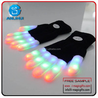 party item Black led glowing gloves with led lights