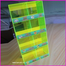 Wireless Stores 4-tier 8-bins Glass Mobile Phone Displays for Dual USB Car Charger Desktop Acrylic Display Case for USB Cables