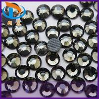 In Bulk Black Diamond Color Iron-on Hot-fix DMC Crystal Flatback Rhinestone