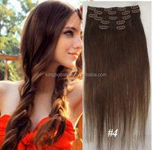 Best quality clip in human hair extensions virgin remy and tangle free on hot sale