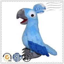 custom high quality promotion blue bird plush toy