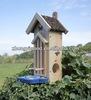new design nature wooden with asphalt roof bird hotel