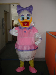 costume ball pink dress Donald Duck Daisy Mascot Costumes,Cartoon dolls, Imitation clothing cosplay