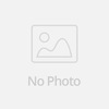 6 piece Extremely Soft High Quality Makeup Brush Set with triangle pink clemence leather case