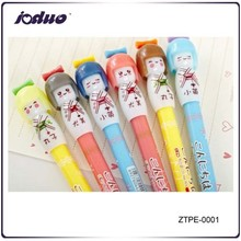 2015 Cute Student Japanese Doll Pattern Black Gel Pen
