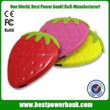 HC-S2 best quality strawberry led power bank 2.1A usb output portable charger