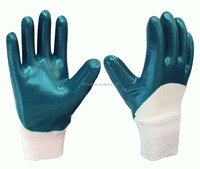Cotton Jerser Liner Chemical Resistance Gloves With Knit Wrist For Winter