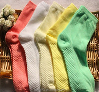 candy color socks with massage buttom
