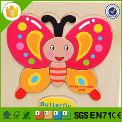 Plastic wooden workers puzzle with high quality
