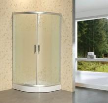 economic beautiful flower matt glass shower enclosure