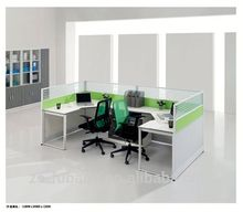 New aluminium aluminum workstations frame modular glass used office partition