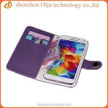Olja fashion mouse pattern wallet case for samsung galaxy s4, new color blocking leather cover for samsung and iphone