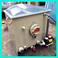 Automatic backwash aquaculture drum filter for indoor fish farm