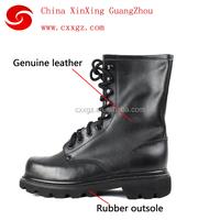 genuine Split leather military training boots