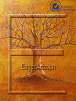 Shenzhen Dafen New Designs Modern Canvas Wall Art Abstract Tree Oil Painting