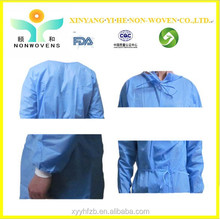 2015 Hot Disposable Reinforced Sterile Surgical Gown / disposable sterile operating clothes for sale