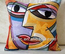 Custom Indoor Decorative Throw Pillows Funny Face Pillows Emoji Cushion