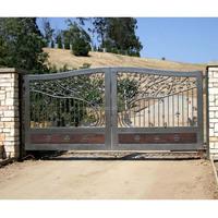 sample of new design sliding main iron gates for modern house