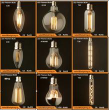 LED Edison bulb: 1w 2w 4w 6w 8w led vintage edison filament light bulb ST64, ST58, A60/A19, T45, G80, G95, G125, B53, C35, T30