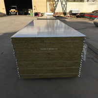 Quick installation A grade Fireproof composite rockwool sandwich panel