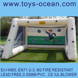 inflatable soccer target shooter /soccer penalty game /children target shooting game
