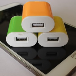 Rapid Charge 1 Amp Universal Wall USB Travel Home to AC Power Adapter Charger For Samsung Galaxy iphone