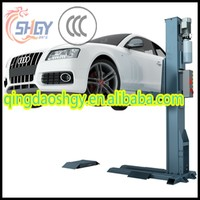 One post car lift , Removeable Single post car hoist , CE certificated hydraulic Single car lifter