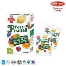Natural flavor 70% fruit juice gummy candy